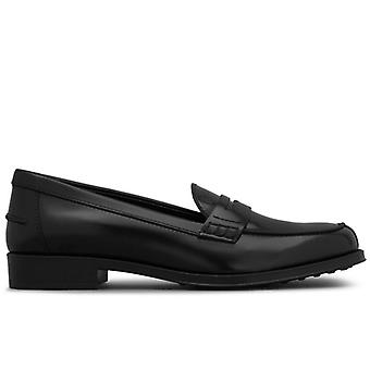 Tod's Black Brushed Leather Loath
