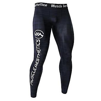 Mens Compression Tights Leggings, Jogging Running Sport Gym Fitness Pants