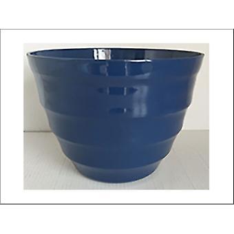 Kiln Fired Pottery Ring Planter Blue 31cm SUPLR-31