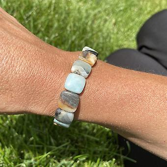 Amazonite Square Bead Armband