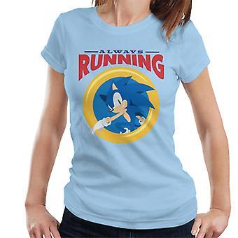 Sonic The Hedgehog Always Running Ring Naiset't-paita