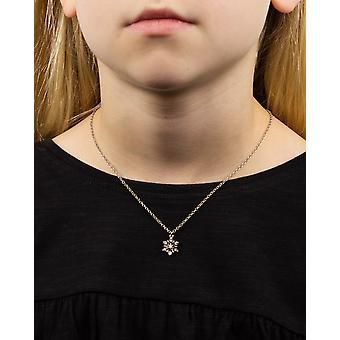 Barnardos Kidsmas utánzás Ródium bevonatú köbös cirkónia hópehely nyaklánc hossza 41cm + 5cm
