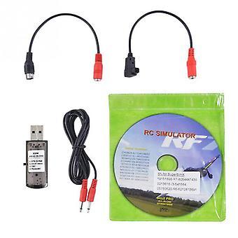 Rc Simulador Drone con cable práctico Hobby spare juguete accesorios usb