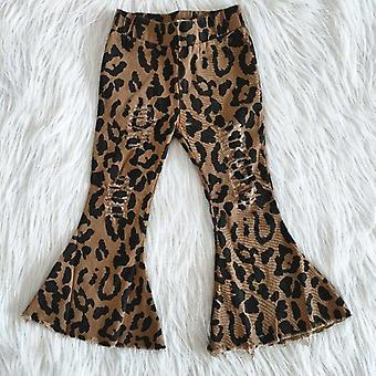 Leopard Pattern Bell Bottom Jeans For Baby