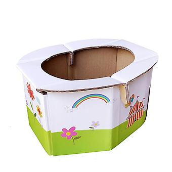 Foldable, Paper, Portable  - Potty Toilet Chair