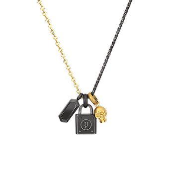 Mannen Collar Politie Sieraden PEJGN2009012 drievoudige hanger