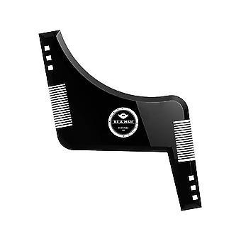 Moda Beard Styling Template Comb - Mustață Simetrie Tundere Stencil