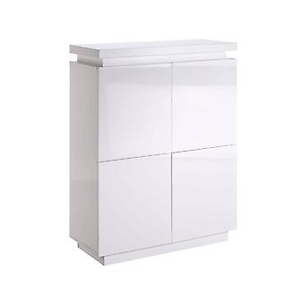 "Mueble ""Julia"" aus MDF blanco lacado con LED - 96 x 40 x 125 cm - 4 purrtas"