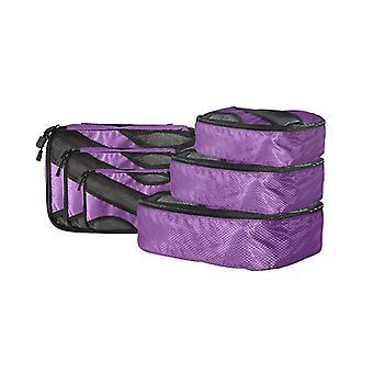 6 Pcs Travel Cubes Storage Luggage Organizer Packing Bags