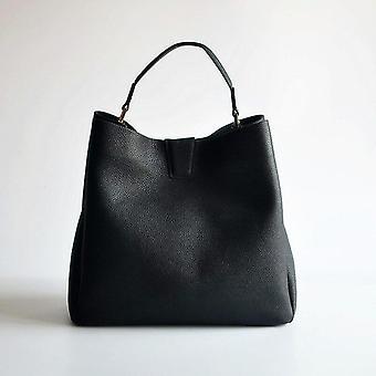 Kožené veľkokapacitné tote bag, hrubé ramenné popruh taška