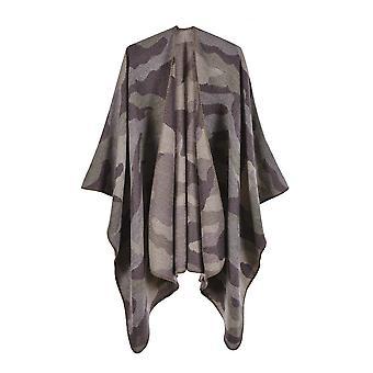 Ladies Autumn And Winter Plus Size Camouflage Light Purple Warm Scarf Blanket Shawl