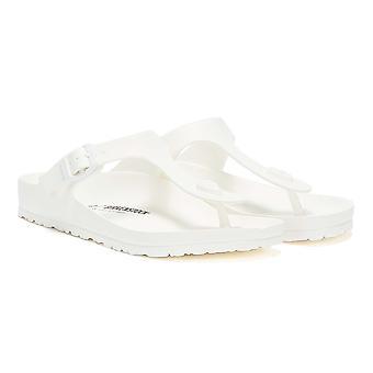 Ева Белый женские сандалии Birkenstock Gizeh