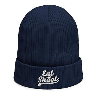 Eat and Shoot - Biological ribbed beanie photographer