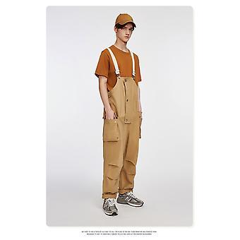 Męskie kombinezony Loose Fit Casual Spodnie, Broadcloth, Poliester Hip Hop Streetwear