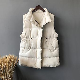 Winter Chalecos Para Mujer Women Long Vests Korean Waistcoat