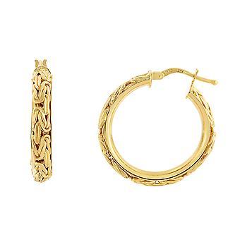 ك 14 أقراط الذهب الأصفر من هوب يتوهم البيزنطية، قطرها 20 مم