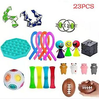 Vent Decompression Toy Set, Including Various Types Of Decompression Toys, 21pcs And 23pcs