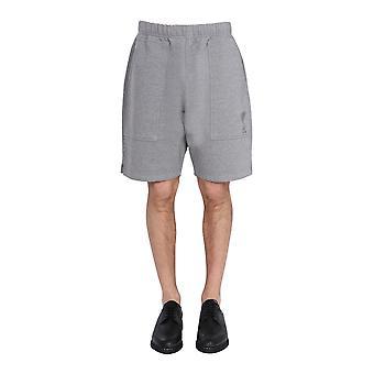 Ami E21hj328747055 Men's Grey Cotton Shorts