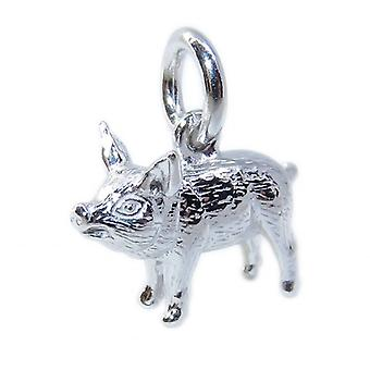 Pig Piccolo Sterling Argento Charm .925 X 1 Piggies Maiali Charms - 8566