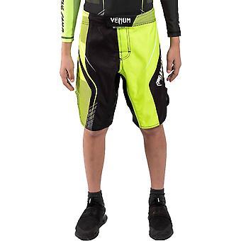 Venum Trainingskamp 3.0 Kids Fight Shorts Zwart/Neo Geel