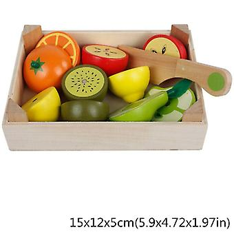 Wooden Classic Game Simulation Kitchen Series, Cutting Fruit And Vegetable,