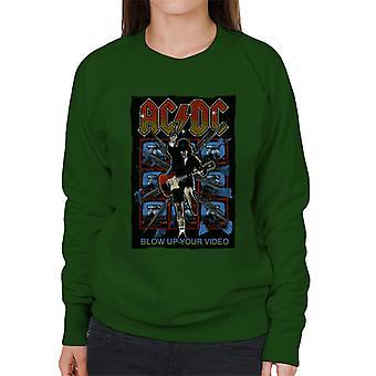 AC/DC Angus Young Blow Up Your Video Women's Sweatshirt