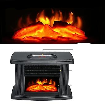 Portátil Electric Fireplace Stove Heater Tabletop Indoor Space, 1000w Household