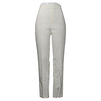 Isaac Mizrahi Live! Women's Pants Stretch Lollipop Ankle White A351092