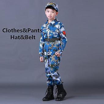 Roupa militar Crianças Uniforme do Exército Treinamento Escolar Camuflagem Casaco de Manga Longa