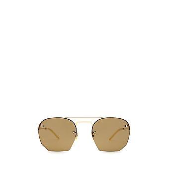Óculos de sol unissex de ouro Saint Laurent SL 422