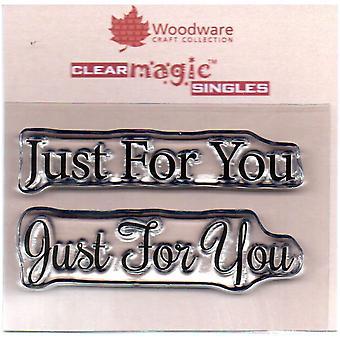 Woodware Просто слова только для вас 1,5 в х 3 в штамп