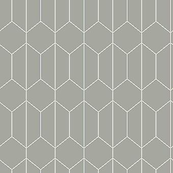 Linear Geometric Wallpaper Grey Arthouse 909700