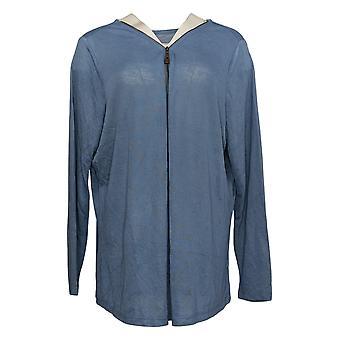 Belle par Kim Gravel Women's Sweater Plus Knit Slub Jersey Blue A355036