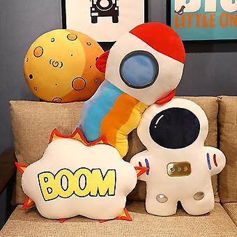 Creative Stuffed Pillow Space Astronaut Plush Toys Funny Simulation Bomb Mars Aviation Cushion for Children Boys Birthday Gift