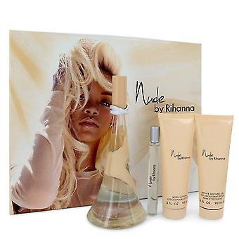 Nude By Rihanna Gift Set By Rihanna 3.4 oz Eau De Parfum Spray + 3 oz Body Lotion + 3 oz Shower Gel + .33 oz Mini EDP Spray