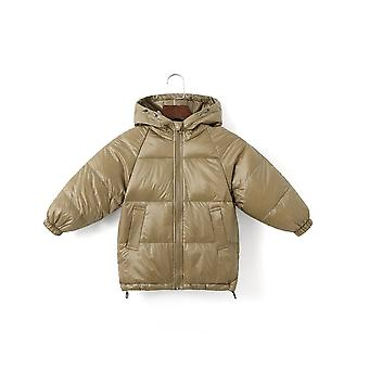 Children Coat Winter Down Cotton Padded Kids Hooded Solid Down Jacket