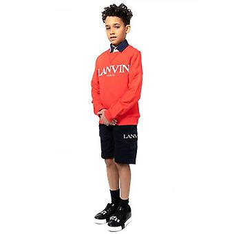 Sweat-shirt Lanvin Kids Red Logo