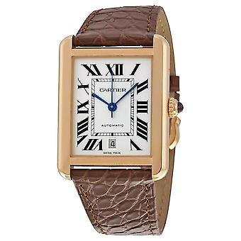 Cartier Tank Solo XL Automatic 18kt Pink Gold Men's Watch W5200026