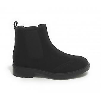 Women's Elite Ankle Boots Beatles Black Suede D21el05