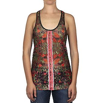 Custo Barcelona Women Tank top Lacet Seaglass Multicolor