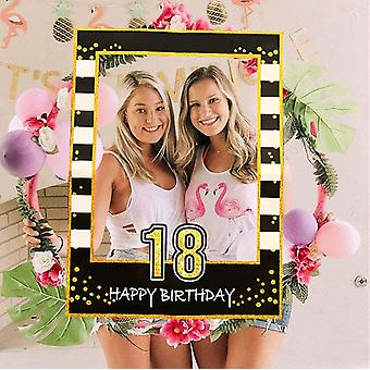 Gerui Black Gold 18th Birthday Party Photo Booth Props 18th Birthday Photo Frame Birthday Photo Frame