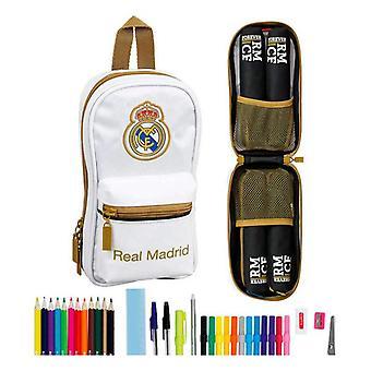 Sac à dos Étui Crayon Real Madrid C.F. 19/20 Blanc Noir (33 Pièces)