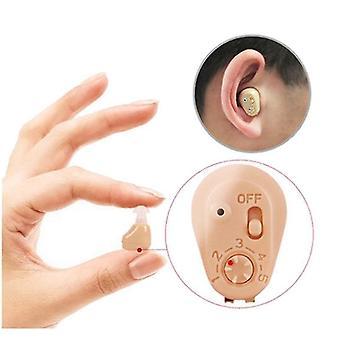 Mini usynlig eldre høreapparat ladbar lavstøy ett-klikks drift i øret lydforsterker med lading saken ørepleie