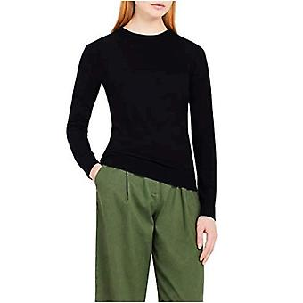 Meraki Women's Merino Crew Neck Sweater,  (Black), EU M (US 8)