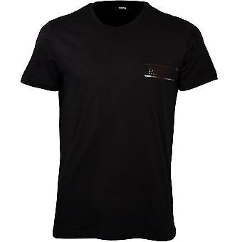 BOSS Luxe Cotton 24 Crew-Neck T-Shirt, Preto/Prata