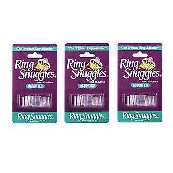 3 X Ring Snuggies - The Original Ring Adjusters - Assorted Sizes Clear PVC SC1753