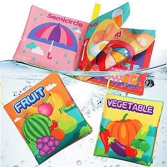 6pcs Vegetables Early Education Cloth Book With Sound Paper Fabric Book For Toddlers