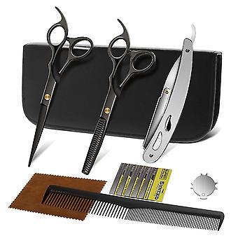 FengChun Haarschere Professionelles Haarschere Set 2 Extra Scharfe Haarschneideschere Einseitiger