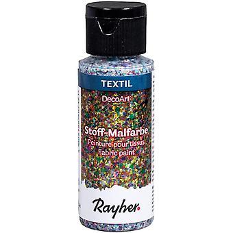 HanFei 38465695 Stoffmalfarbe Extreme Glitter, confetti, Flasche 59 ml, Textilfarbe mit