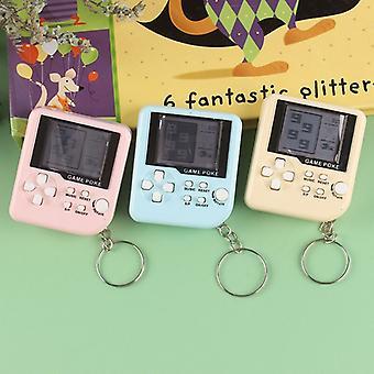 Mini klassische Spielmaschine Retro nostalgische Spielkonsole mit Schlüsselanhänger Tetris Videospiel Handheld Spiel Spieler elektronische Spielzeug